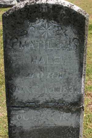 HALE, MATILDA - Bledsoe County, Tennessee   MATILDA HALE - Tennessee Gravestone Photos