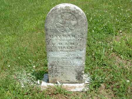 HALE, RAYMON R. - Bledsoe County, Tennessee | RAYMON R. HALE - Tennessee Gravestone Photos