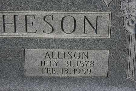 HUTCHERSON, ALLISON - Bledsoe County, Tennessee   ALLISON HUTCHERSON - Tennessee Gravestone Photos