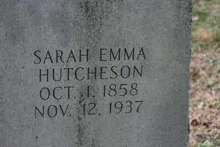 HUTCHERSON, SARAH EMMA - Bledsoe County, Tennessee   SARAH EMMA HUTCHERSON - Tennessee Gravestone Photos