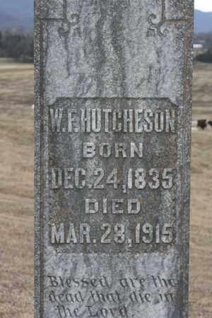 HUTCHERSON, W.F. - Bledsoe County, Tennessee | W.F. HUTCHERSON - Tennessee Gravestone Photos
