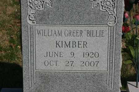"KIMBER, WILLIAM GREER ""BILLIE"" - Bledsoe County, Tennessee 