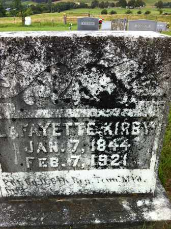 KIRBY, LAFAYETTE - Bledsoe County, Tennessee | LAFAYETTE KIRBY - Tennessee Gravestone Photos