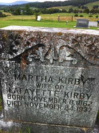 KIRBY, MARTHA - Bledsoe County, Tennessee | MARTHA KIRBY - Tennessee Gravestone Photos