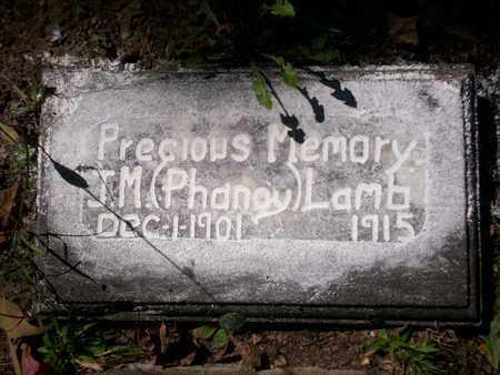 LAMB, J. M. (PHANEY) - Bledsoe County, Tennessee | J. M. (PHANEY) LAMB - Tennessee Gravestone Photos