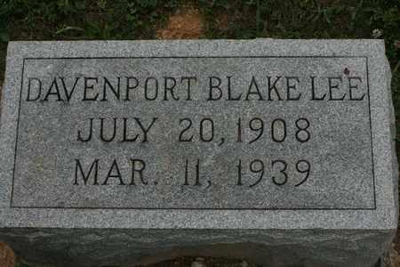 LEE, DAVENPORT BLAKE - Bledsoe County, Tennessee | DAVENPORT BLAKE LEE - Tennessee Gravestone Photos