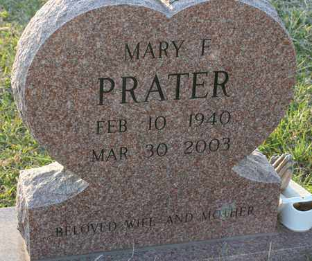 PRATER, MARY F. - Bledsoe County, Tennessee   MARY F. PRATER - Tennessee Gravestone Photos