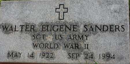 SANDERS (VETERAN WWII), WALTER EUGENE - Bledsoe County, Tennessee   WALTER EUGENE SANDERS (VETERAN WWII) - Tennessee Gravestone Photos