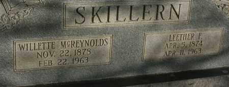 SKILLERN, LEETHER FRANKLIN - Bledsoe County, Tennessee   LEETHER FRANKLIN SKILLERN - Tennessee Gravestone Photos