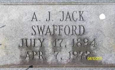 SWAFFORD, ANDREW JACKSON - Bledsoe County, Tennessee | ANDREW JACKSON SWAFFORD - Tennessee Gravestone Photos