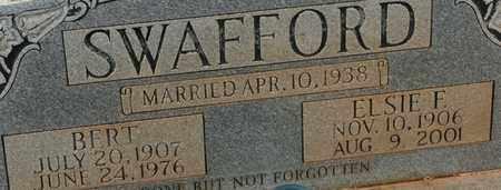 SWAFFORD, ELSIE F. - Bledsoe County, Tennessee | ELSIE F. SWAFFORD - Tennessee Gravestone Photos