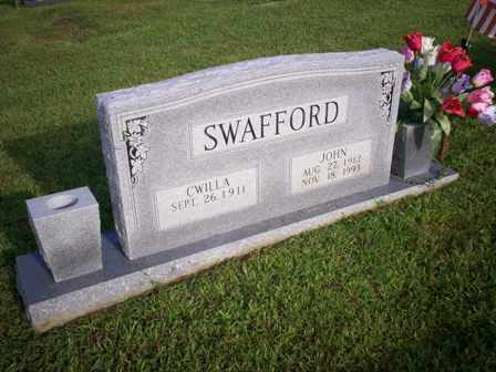 SWAFFORD, CWILLA - Bledsoe County, Tennessee | CWILLA SWAFFORD - Tennessee Gravestone Photos