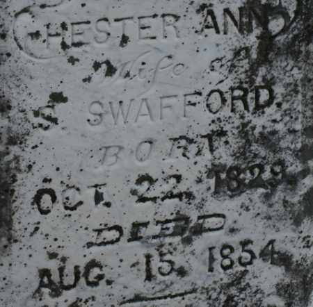 SWAFFORD, CHESTER ANN - Bledsoe County, Tennessee | CHESTER ANN SWAFFORD - Tennessee Gravestone Photos