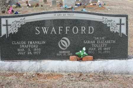 SWAFFORD, CLAUDE FRANKLIN - Bledsoe County, Tennessee | CLAUDE FRANKLIN SWAFFORD - Tennessee Gravestone Photos