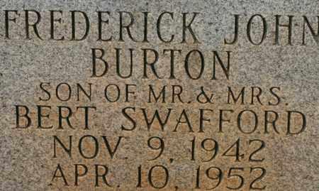 SWAFFORD, FREDERICK JOHN BURTON - Bledsoe County, Tennessee | FREDERICK JOHN BURTON SWAFFORD - Tennessee Gravestone Photos