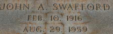 SWAFFORD, JOHN A. - Bledsoe County, Tennessee | JOHN A. SWAFFORD - Tennessee Gravestone Photos