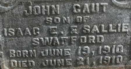 SWAFFORD, JOHN GAUT - Bledsoe County, Tennessee | JOHN GAUT SWAFFORD - Tennessee Gravestone Photos