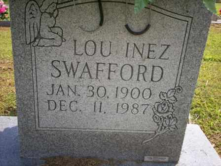 SWAFFORD, LOU INEZ - Bledsoe County, Tennessee | LOU INEZ SWAFFORD - Tennessee Gravestone Photos