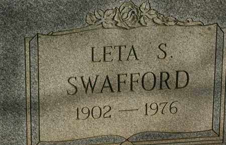 SWAFFORD, LETA S. - Bledsoe County, Tennessee | LETA S. SWAFFORD - Tennessee Gravestone Photos