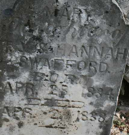 SWAFFORD, MARY - Bledsoe County, Tennessee | MARY SWAFFORD - Tennessee Gravestone Photos