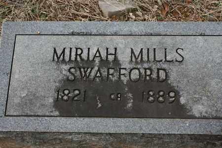 SWAFFORD, MIRIAH MILLS - Bledsoe County, Tennessee   MIRIAH MILLS SWAFFORD - Tennessee Gravestone Photos