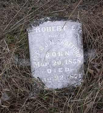 SWAFFORD, ROBERT E, - Bledsoe County, Tennessee | ROBERT E, SWAFFORD - Tennessee Gravestone Photos