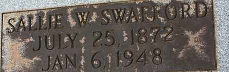 SWAFFORD, SALLIE W. - Bledsoe County, Tennessee | SALLIE W. SWAFFORD - Tennessee Gravestone Photos