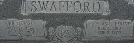 SWAFFORD, WHEELER - Bledsoe County, Tennessee | WHEELER SWAFFORD - Tennessee Gravestone Photos