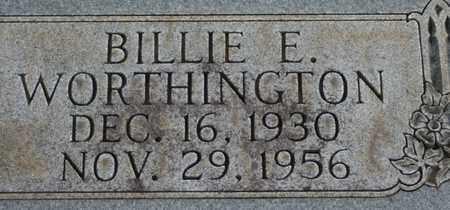 WORTHINGTON, BILLIE E. - Bledsoe County, Tennessee   BILLIE E. WORTHINGTON - Tennessee Gravestone Photos