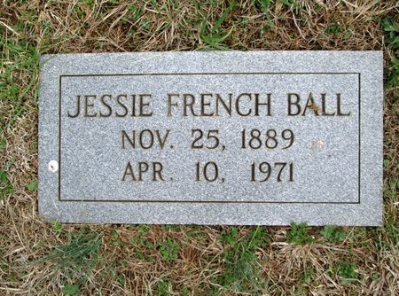 BALL, JESSIE FRENCH - Blount County, Tennessee   JESSIE FRENCH BALL - Tennessee Gravestone Photos