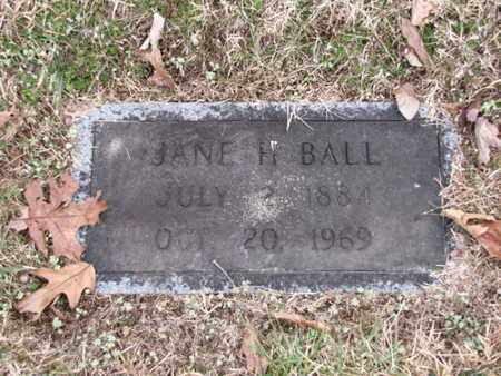 BALL, JANE H - Blount County, Tennessee | JANE H BALL - Tennessee Gravestone Photos
