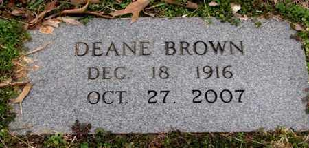 BROWN, DEANE - Blount County, Tennessee | DEANE BROWN - Tennessee Gravestone Photos