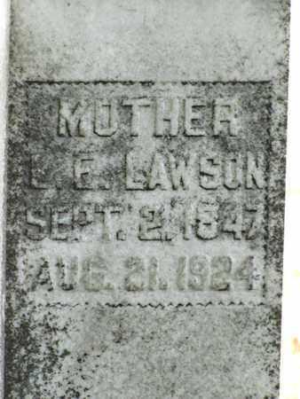 LAWSON, L. E. (CLOSE UP) - Blount County, Tennessee | L. E. (CLOSE UP) LAWSON - Tennessee Gravestone Photos