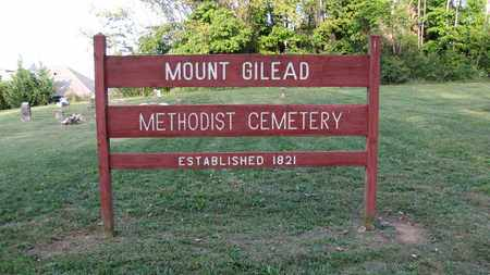 *MOUNT GILEAD SIGN,  - Blount County, Tennessee |  *MOUNT GILEAD SIGN - Tennessee Gravestone Photos
