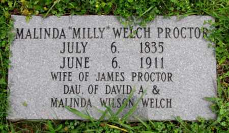 """PROCTOR, MALINDA """"MILLY"""" - Blount County, Tennessee 