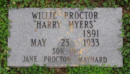 "PROCTOR, WILLIE ""HARRY MYERS"" - Blount County, Tennessee 