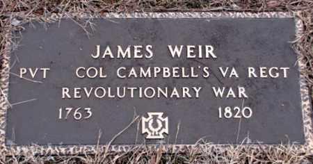 WEIR  (VETERAN REV), JAMES - Blount County, Tennessee | JAMES WEIR  (VETERAN REV) - Tennessee Gravestone Photos