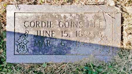 GOINS, CORDIE - Bradley County, Tennessee | CORDIE GOINS - Tennessee Gravestone Photos