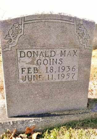 GOINS, DONALD MAX - Bradley County, Tennessee   DONALD MAX GOINS - Tennessee Gravestone Photos