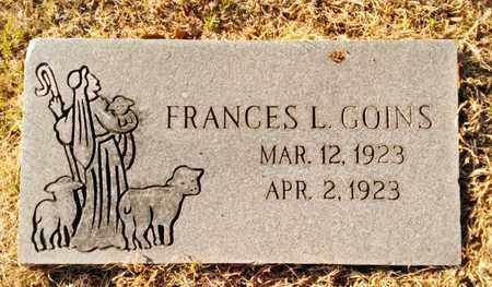 GOINS, FRANCES L. - Bradley County, Tennessee   FRANCES L. GOINS - Tennessee Gravestone Photos