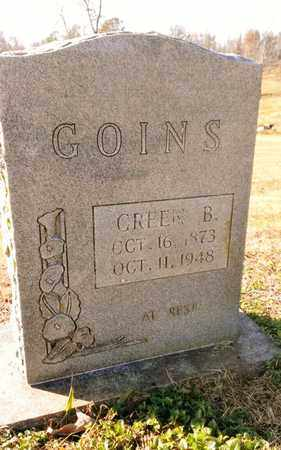 GOINS, GREEN BERRY - Bradley County, Tennessee | GREEN BERRY GOINS - Tennessee Gravestone Photos