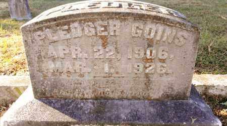 GOINS, PLEDGER - Bradley County, Tennessee | PLEDGER GOINS - Tennessee Gravestone Photos