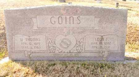 GOINS, WILLIAM THOMAS - Bradley County, Tennessee | WILLIAM THOMAS GOINS - Tennessee Gravestone Photos