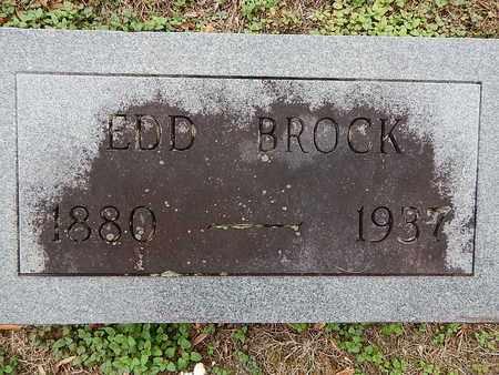 BROCK, EDD - Campbell County, Tennessee | EDD BROCK - Tennessee Gravestone Photos
