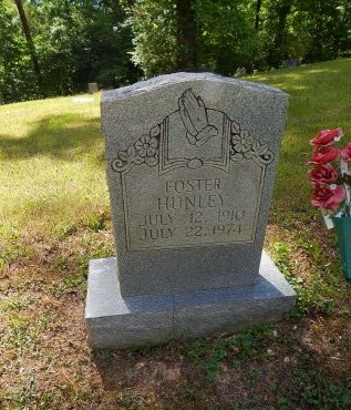 HUNLEY, FOSTER - Campbell County, Tennessee | FOSTER HUNLEY - Tennessee Gravestone Photos