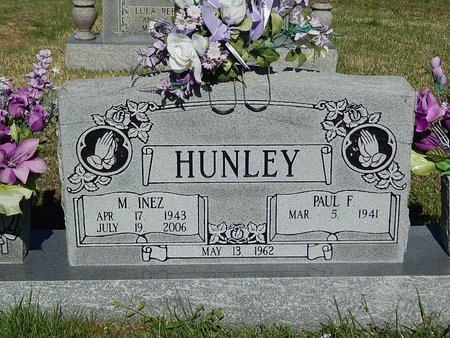 HUNLEY, M INEZ - Campbell County, Tennessee   M INEZ HUNLEY - Tennessee Gravestone Photos