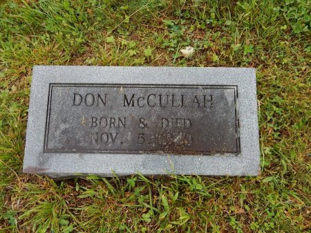 MCCULLAH, DON (INFANT) - Campbell County, Tennessee | DON (INFANT) MCCULLAH - Tennessee Gravestone Photos