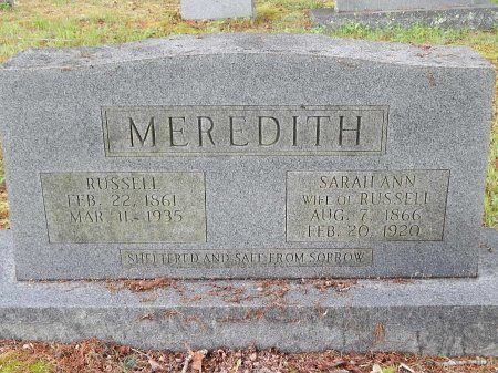 MEREDITH, RUSSELL - Campbell County, Tennessee | RUSSELL MEREDITH - Tennessee Gravestone Photos