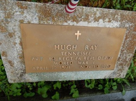 RAY (VETERAN WWI), HUGH (NEW) - Campbell County, Tennessee | HUGH (NEW) RAY (VETERAN WWI) - Tennessee Gravestone Photos