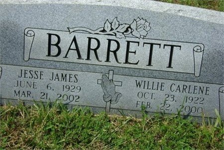 BARRETT, JESSE JAMES - Cannon County, Tennessee | JESSE JAMES BARRETT - Tennessee Gravestone Photos
